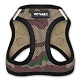 Voyager Step-In Air Dog Harness - All Weather Mesh, Step In Vest Harness for Small and Medium Dogs by Best Pet Supplies - Army Base, Small (Chest: 14.5' - 17') (207-AMB-S)