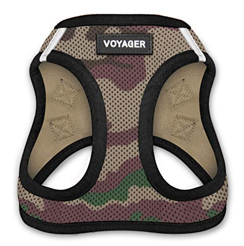 "Voyager Step-in Air Dog Harness - All Weather Mesh, Step in Vest Harness for Small and Medium Dogs by Best Pet Supplies, Army Base, XL (Chest: 21 - 23"") (207-AMB-XL)"