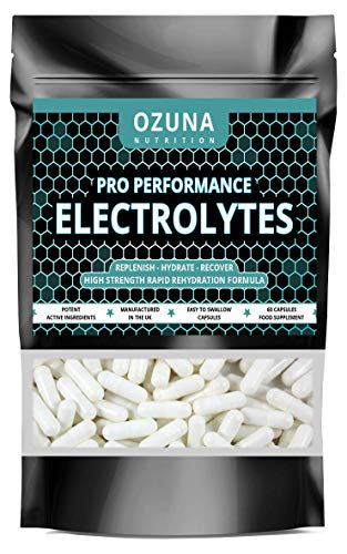 Pro Performance Electrolytes Tablets Rapid Hydration Replenish Lost Minerals & Salts | Suitable for Vegetarians | 60 Capsules
