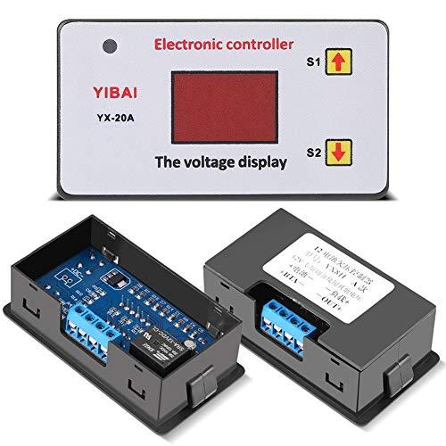 Acogedor Controlador de Voltaje, Controlador de Protección de Baja Tensión, 12 V, con Indicador LED, Ayudar A Proteger Batería de Descarga Excesiva Y Prolongará Vida útil de Batería