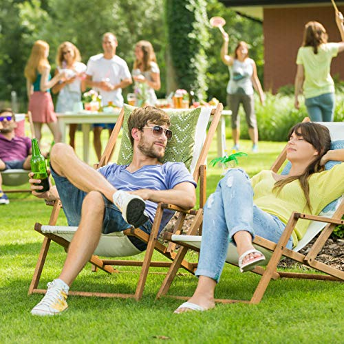 Relaxdays 10020902_126 Ombrellone da Giardino, Spiaggia, Forma Rettangolare, Naturale, 120x200x240 cm