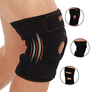 Knee Brace Support - Relieves ACL, LCL, MCL, Meniscus Tear, Arthritis, Tendonitis Pain. Open Patella Dual Stabilizers Non Slip Comfort Neoprene.