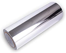 Car Vinyl Wrap Chrome Mirror Silver Self Adhesive DIY Decals Decoration 12