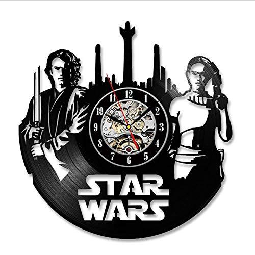 szhao Anakin Skywalker Padme Amidala Vinyl Record Clock Home Design Room Art...
