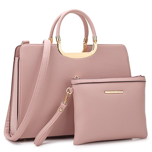 Dasein Women's Handbags and Purses Ladies Designer Tote Shoulder Bags Satchel Top Handle Work Bags Briefcase with Matching Wallet