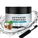BQ Teeth Whitening Charcoal Powder Coconut Activated Charcoal Teeth Whitening Powder with Toothbrush 100% Natural Food Grade, 2.1 oz | Manufactured in Japan