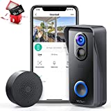 Victure Wireless Video Doorbell Camera with 1080P HD, Smart Motion Detection, Wide Angle