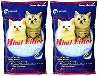 Mimi Pet Cat Litter Silica Gel Crystals, Ultra Absorbent & Lightweight 4-Pound Bags (Pack of 2) by Mimi Litter