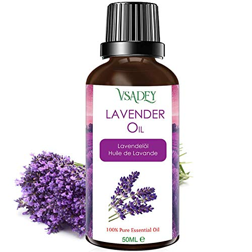 Lavendelöl 100% Reines und Natürliches - 50ml Ätherisches Öl Lavendel Duftöl für Diffuser,...