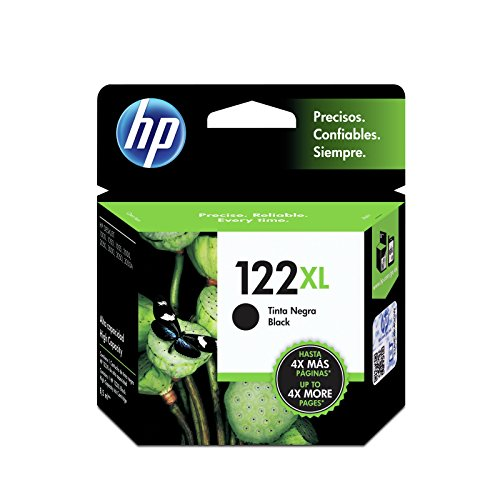 HP CH563HL Cartucho de Tinta, No. 122 XL, Color Negro