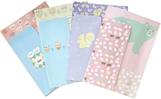 QingLanJian Cute Cartoon Animal Letter Writing Paper Stationary Paper and Envelopes Set for Kids Gift