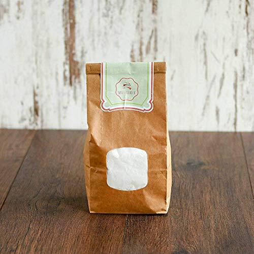 süssundclever.de® Bio Puderzucker   aus Rohrzucker   1 kg   plastikfrei und ökologisch-nachhaltig abgepackt