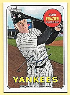 2018 Topps Heritage Real One #CF Clint Frazier On Card Rookie Autograph YANKEES