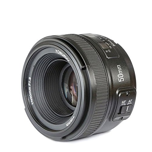 Yongnuo Yn50Mm F1,8 Lente Objetivo (Apertura F/1,8) Para Nikon Dslr Cámara Fotografía, Enfoque Automático de Gran Apertura y Selens Papel de la Lente