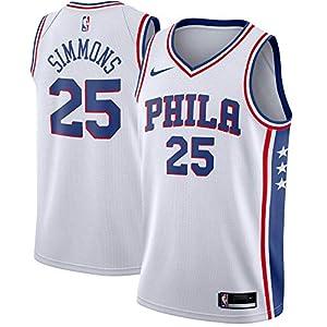 Nike Ben Simmons Philadelphia 76ers NBA Boys Youth 8-20 White Association Edition Swingman Jersey