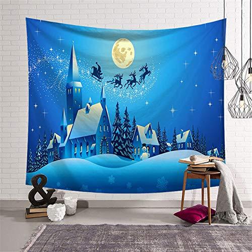 Shentop Alfombra de Yoga Que viaja en 200x150cm Tapiz de Pared de Navidad Duende Artista decoración del hogar...