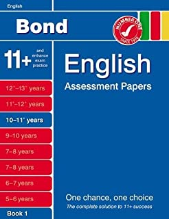Bond English Assessment Papers 10-11+ Years Book 1 by J M Bond (2011-11-17)