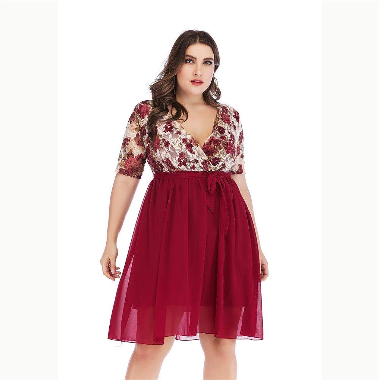Women's Dress Summer Sexy VNeck Floral Prints Mini Dress