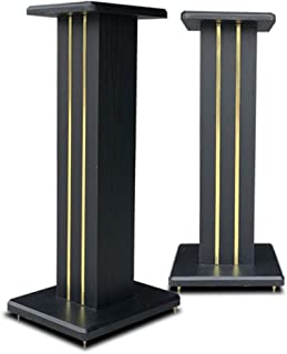 Stands Speaker Stand Desktop Floor-standing Wooden Surround Sand-fillable Stereo Home HIFI Bookshelf Stable Tripod (Color ...