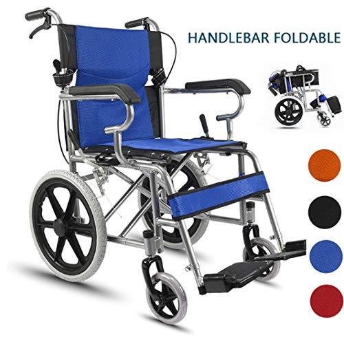 MLKARDUT Drive Medische Zelfrijdende Rolstoel met Flip Opvouwbare Handvat Arms, Swing Away Voetsteunen Mobility Transport Chair, 19