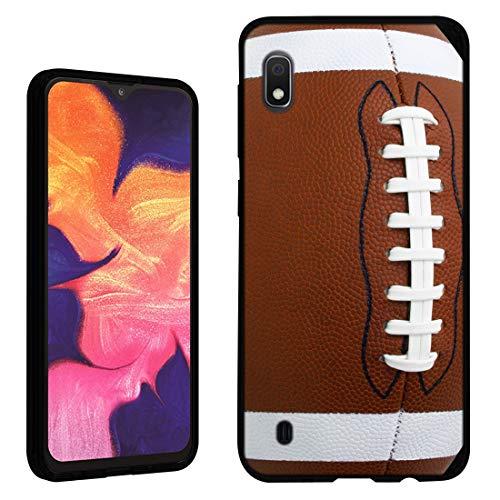 Case [Football](Black) PaletteShield Flexible Slim TPU Skin Phone Cover (Compatible for Samsung Galaxy A10e)