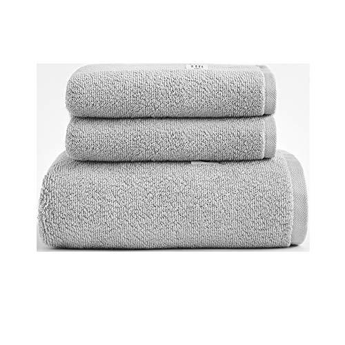 NAFE Toalla de baño Grupos de 3 Toallas, 1 Toalla de baño Toalla de Mano 2, de usos múltiples para baño, Hotel, Gimnasio, SPA y Playa, 100% algodón, absorbentes de Alta Dark Gray
