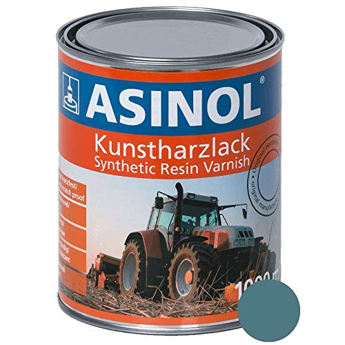 ASINOL EICHER KURIERBLAU 1.000 ml Kunstharzlack Farbe Lack 1l Liter Dose