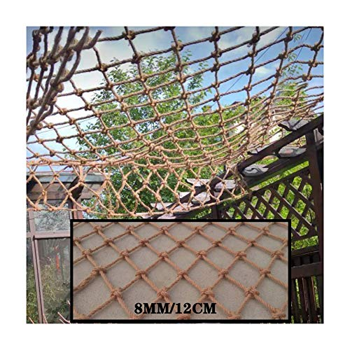 LJIANW Safety Net Outdoor Gazebo Decorative Net Children's Railing Safety Net Fall Safety Net Hemp Rope Net for Hammock Swing Fence Balcony Roof Bar, Custom Size