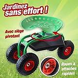 Mundus 33088 Siège de Jardin sur Acier Roues Vert
