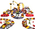 2021 Newest Construction Race Track Toy for Boy, 245PCS Flexible Race Car Playset for Kids, Best Play Vehicles Set Train Tracks Construction Toy Gift for Boys Girls 3 4 5 6 7 8 Years Old from Leapom