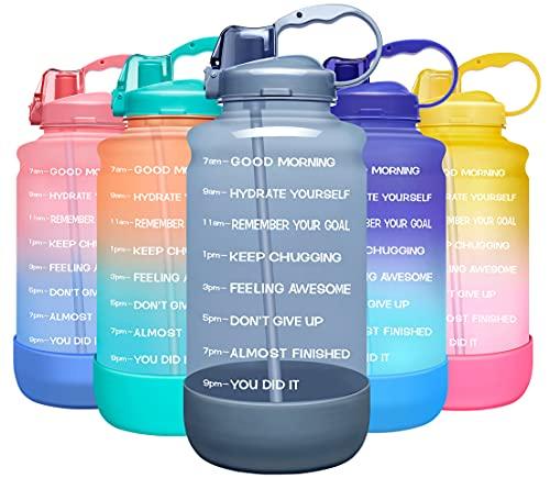 Elvira Large 1 Gallon/128-Oz Motivational Water Bottle Only $12.99 (Retail $20.99)