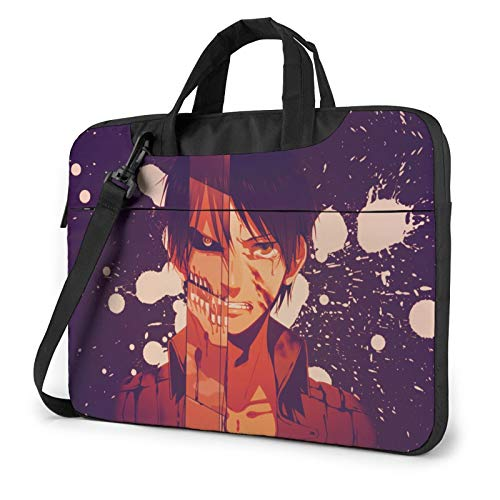 13 Inch Laptop Sleeve Bag, Attack On Titan Tablet Briefcase Ultra Portable Protective Shoulder Shockproof Laptop Canvas Cover MacBook Pro/Notebook