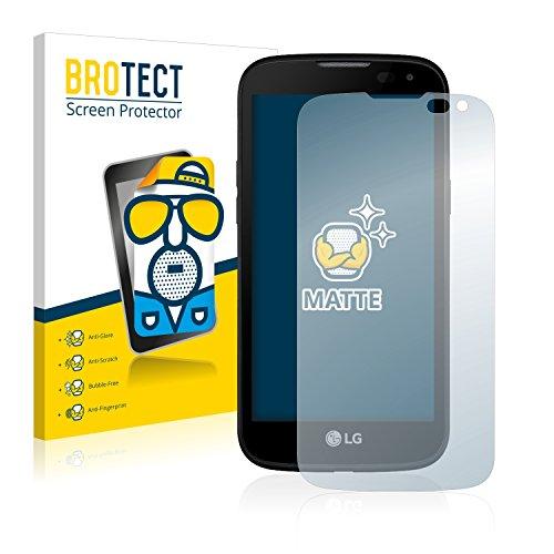 BROTECT 2X Entspiegelungs-Schutzfolie kompatibel mit LG K3 LTE Bildschirmschutz-Folie Matt, Anti-Reflex, Anti-Fingerprint