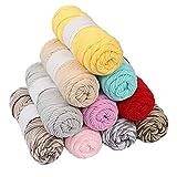 LiuliuBull 100 g / set de hilo de algodón peinado hecho a mano para tejer hilo de algodón de calidad para chaqueta bufanda adecuado para mujer (color: 13)