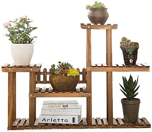 CESULIS Bastidores de exhibición de madera Decoración de jardín Soporte de plantas de plantas de múltiples pisos de madera interior y al aire libre Soporte de la planta anti-corrosión y duradero de ma