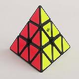 EasyGame Pyraminx - Puzle para niños (piraminx con forma de cubo, color negro