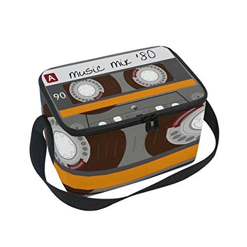 Use7 - Bolsa térmica para el almuerzo, diseño de cinta de casete...