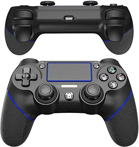 JOYSKY Wireless Controller Bluetooth Gamepad mit Dual Vibration Wiederaufladbarer Remote-Sechs-Achsen-Dual Vibration und Audio Jack Controller (Blau)