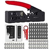 Lubein - Instalaciones profesionales para reparación de ordenadores y teléfonos, distancia, cortador de cables y lineales, desinflar la herramienta de inserción Krone en maletín de herramientas (rojo)