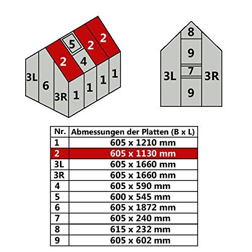 Jawoll Hohlkammerplatte für Gewächshaus Gartenhaus Treibhaus Nr. 2/605 x 1130 mm | 20,57 €/m²
