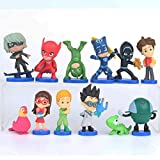 NamekPlanet - Lot de 12 Figurines Pyjamasques PJMasks Jouet Décoration - 2 à 6cm