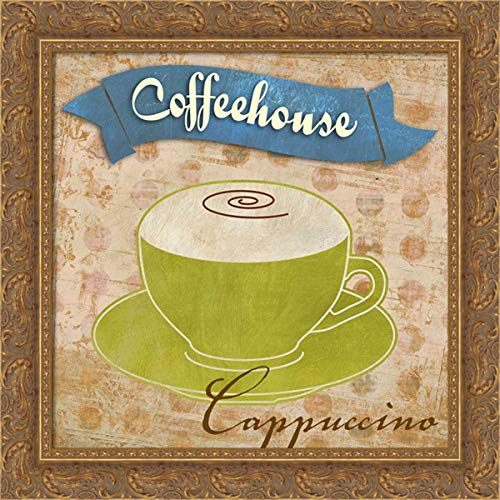 Teller, Skip 20x20 Gold Ornate Framed Canvas Art Print Titled: Cappuccino
