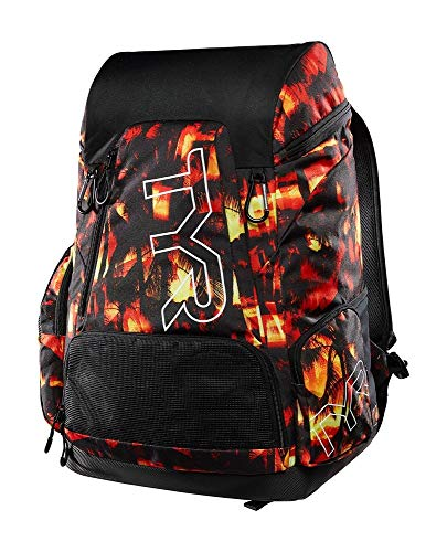 TYR 45L backpack-sunset print, Red/Yellow, All