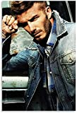 Lienzo Pintura Al óLeo Estrella de fútbol David Beckham, Modelo Masculino de Moda e Imagen para decoración de Habitaciones Poster Y Estampados Arte Cuadros 23.6'x35.4'(60x90cm) Sin Marco