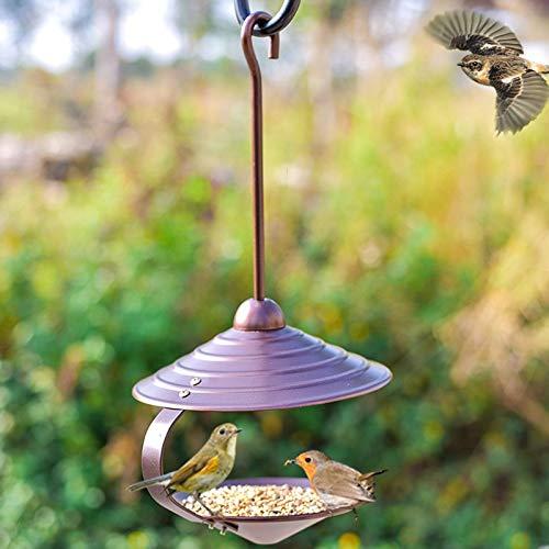YSNUK Comedero para pájaros Alimentador De Aves Silvestres Al Aire Libre Colgando Caja De Comida para Pájaros Jardín Decorativo Comedero para Pájaros máquina de alimentación, al Aire Libre: Amazon.es: Hogar