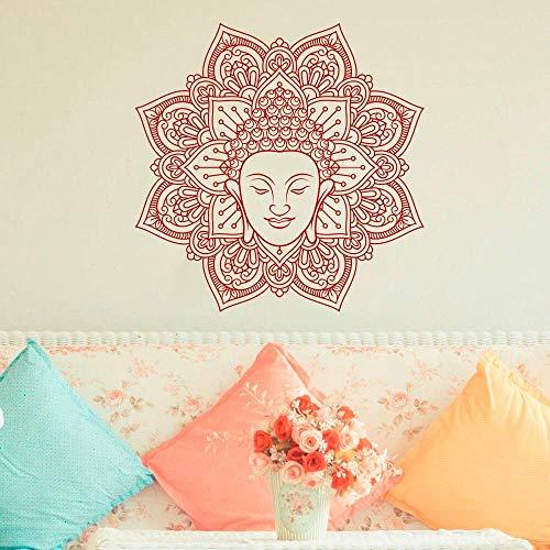 Mandala Muursticker Ritueel Object Boheemse Muurstickers Verwijderbare Mandala Bloem Behang Woondecoratie Accessoires 42 * 42cm