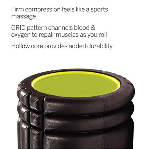 Trigger Point Foamroller Grid, Black, 33 x 14 cm, 3700006350013 - 4