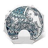 Paraguas Plegable Automático Impermeable Tatuaje De Mandala Doodle, Paraguas De Viaje Compacto a Prueba De Viento, Folding Umbrella, Dosel Reforzado, Mango Ergonómico