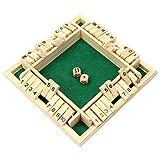 PFativant - Gioco da tavolo con 4 giocatori, in legno, gioco da tavolo classico, con dadi...