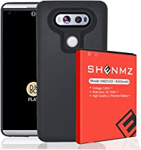 LG V20 Battery,8500mAh (More Than 2.57X Extra Battery Power) V20 Replacement Battery, LG V20 Extended Battery BL-44E1F with Black TPU Case for LG H910 H918 V995 LS997 Phone   LG V20 Battery Case